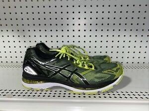 ASICS-Gel-Nimbus-19-Mens-Athletic-Running-Shoes-Size-10-Neon-Green-Black-Gray