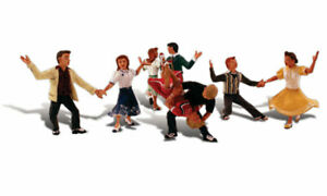 Woodland-Scenics-A1950-Rock-n-Roll-Figuren-Miniaturwelten-H0-1-87