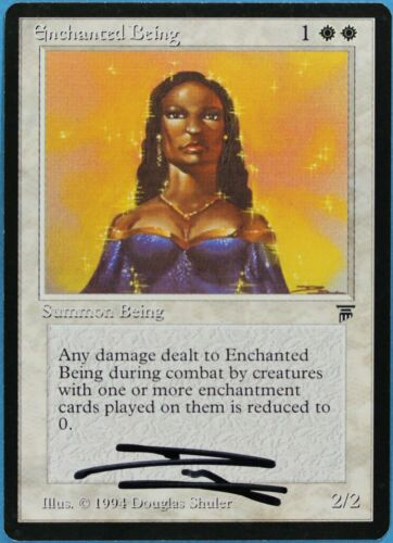 ABUGames Enchanted Being Legends NM White Common Artist Signed CARD s2964
