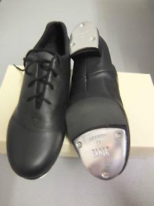 Black leather Bloch Tap Flex split sole