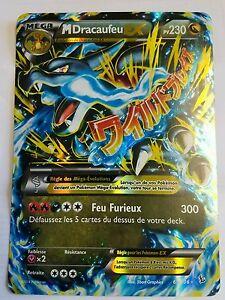 Details About Carte Pokemon Mega M Dracaufeu Ex 69106 Jumbo Geante Bon état 300hp Francaise