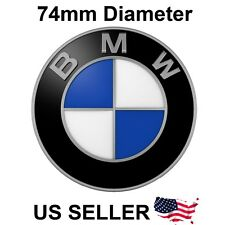 BMW HOOD / TRUNK EMBLEM (BADGE), 74MM,  - P/N 51148132375 - USA SELLER
