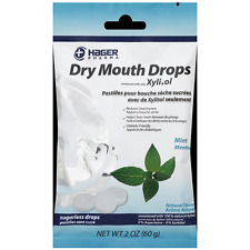 Hager Pharma Dry Mouth Drops with Xylitol, Mint 2 oz