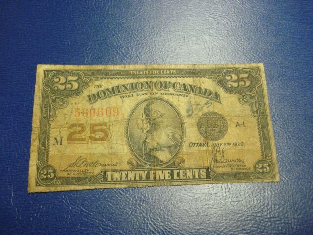 SHINPLASTER - 1923 Canada 25 Cent note - Canadian quarter bill - 569609