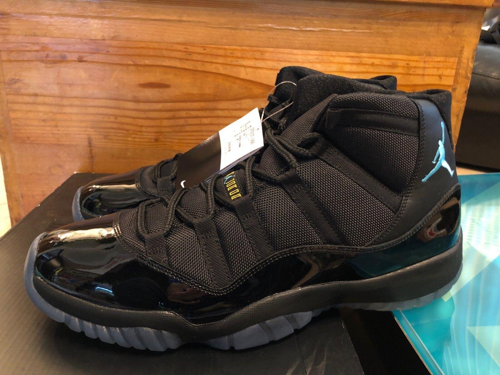 2013 Nike Air Jordan XI 11 Retro Gamma bluee Black patent size 14