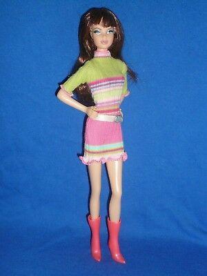 Sensibile Barbie Fashion ~ Genuine Barbie Abito Abbinato Con Tacco Alto Stivali ~ Bambola Non Inc-mostra Il Titolo Originale Valore Eccezionale