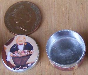 Échelle 1:12 Vide Rond Boîte à Biscuits Maison De Poupées Cuisine Nourriture Gâteau Accessoire Bt4-afficher Le Titre D'origine