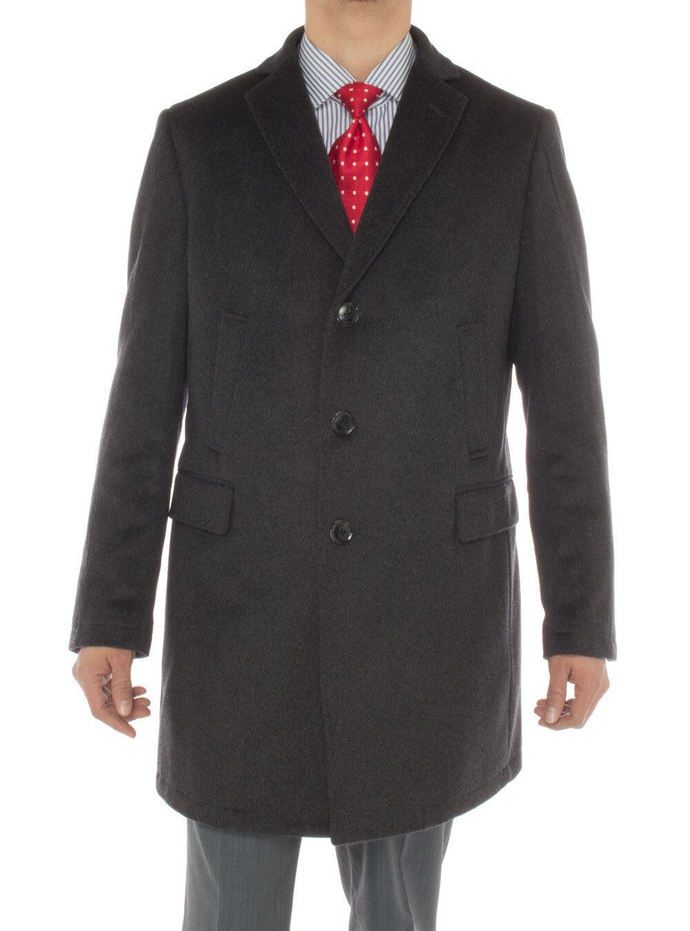 Luciano Natazzi  Herren Cashmere Trench Coat Classic Modern Topcoat Overcoat