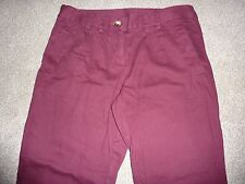 "New Look size 10 burgundy, red skinny jeans, trousers. 27"" leg"