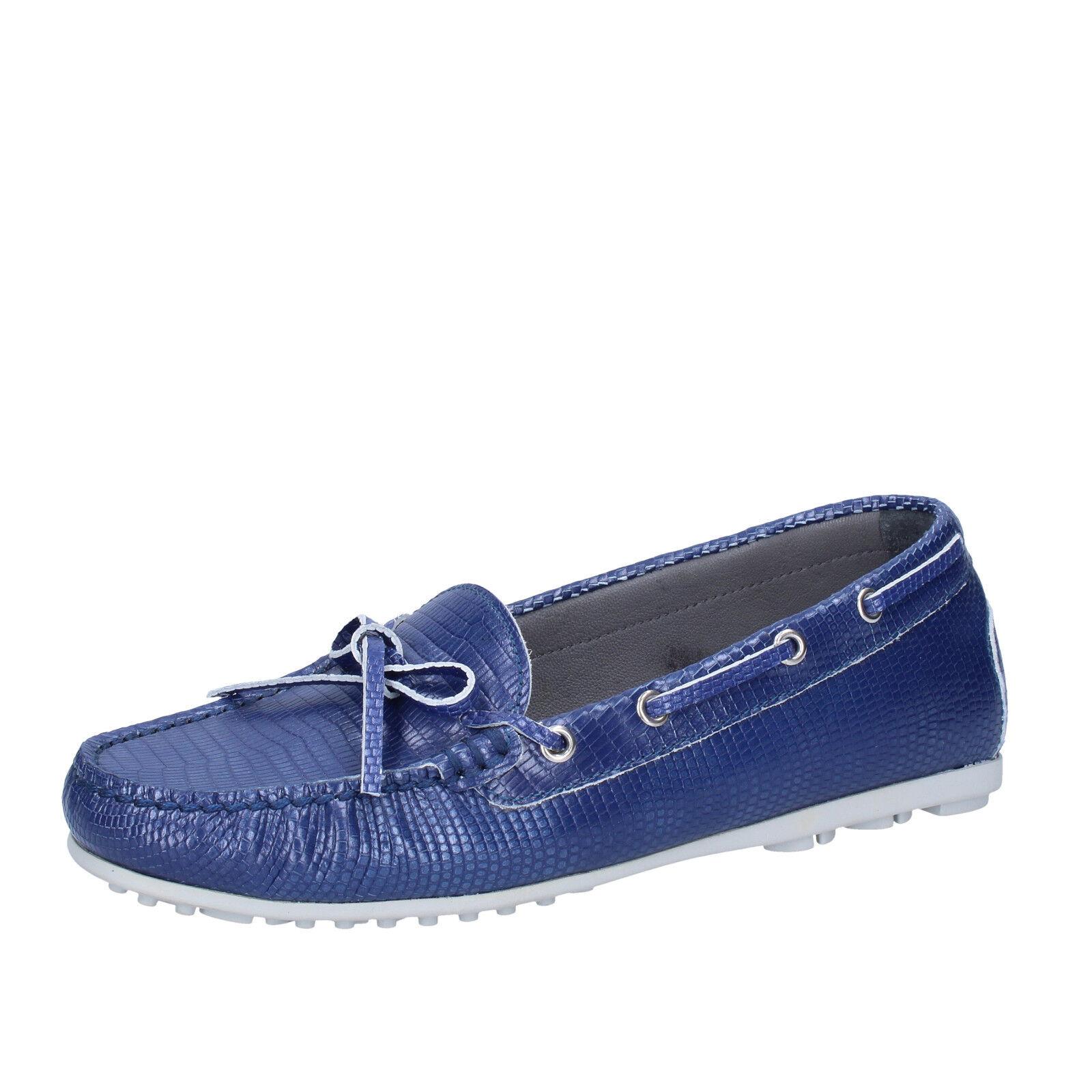 Chaussures Pointure K852 & fils 4 (UE 37) à enfiler en cuir bleu BT933-37