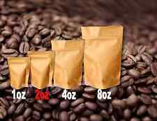 100 2oz Kraft Stand Up Pouch Bags Food Safe Resealable Bags Food Packaging