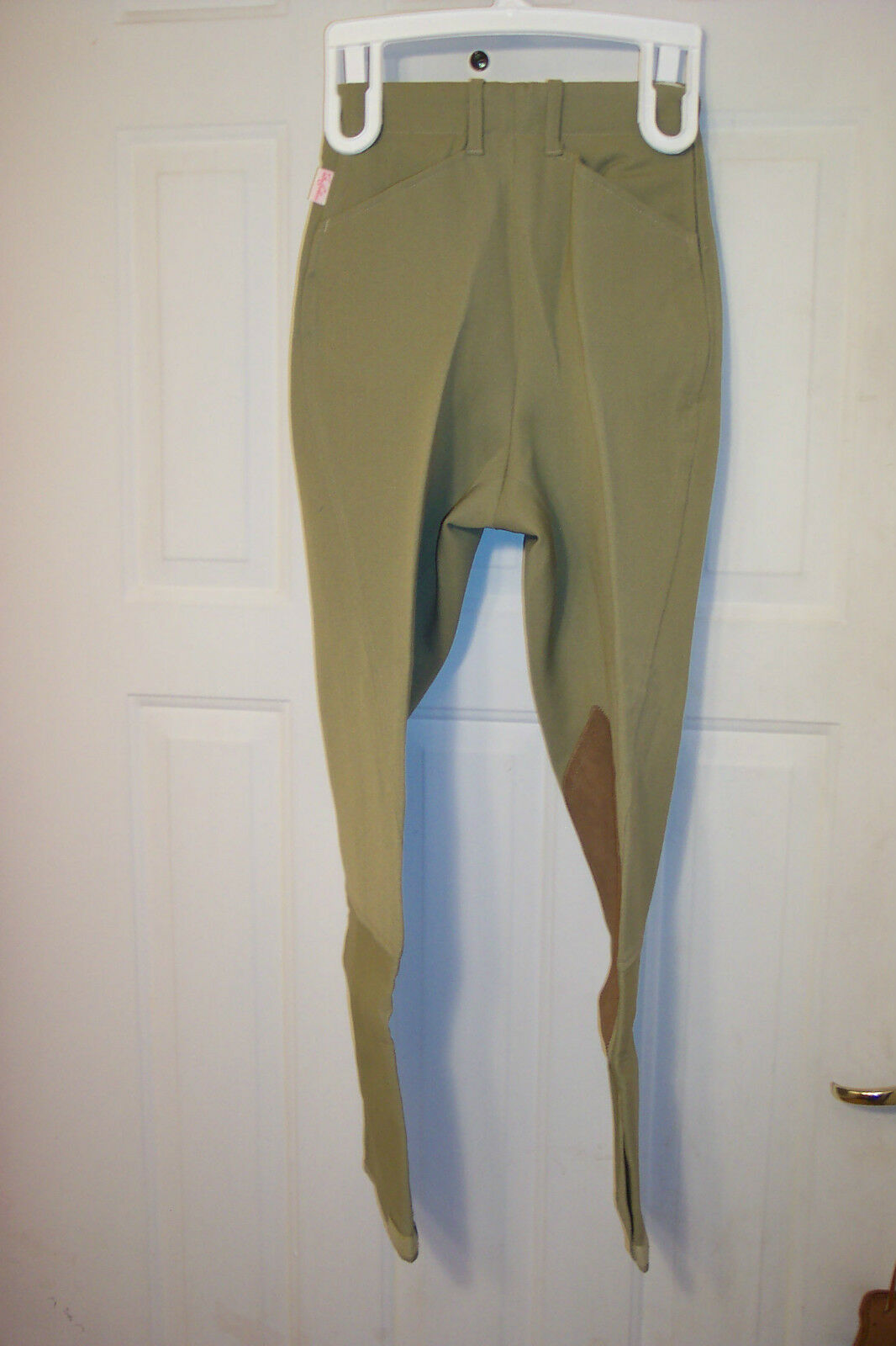 TAILORED SPORTSMAN LADIES BREECHES ROYAL   22R  KNEE PATCH GREEN BEIGE  up to 42% off