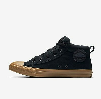 CONVERSE CHUCK TAYLOR ALL STAR STREET MID TOP 155708C Black Gold SNEAKERS MEN