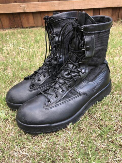 Belleville Gore-Tex Boots Men's Black Leather Combat 700 V - US 11.5 Vibram Sole