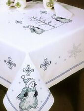 "Tobin Stamped Tablecloth CAMELOT 50/"" x 70/"" Oblong Cross Stitch"