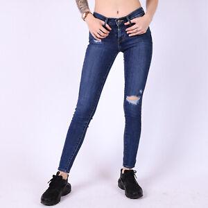Levi-s-710-Super-Skinny-Distressed-dunkelblau-Damen-Jeans-DE-34-W24-L30