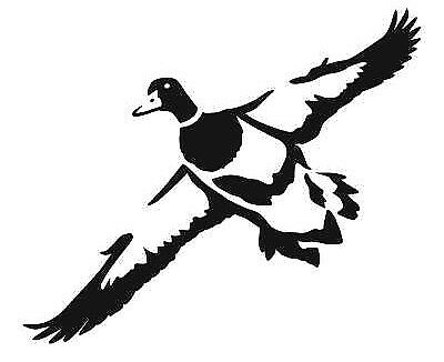Car window decal truck outdoor sticker hunting hunt duck ducks mallard