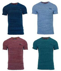 Cuello-redondo-para-hombre-Superdry-Orange-Label-de-Manga-Corta-camiseta-Azul-Marino-Rojo-Verde