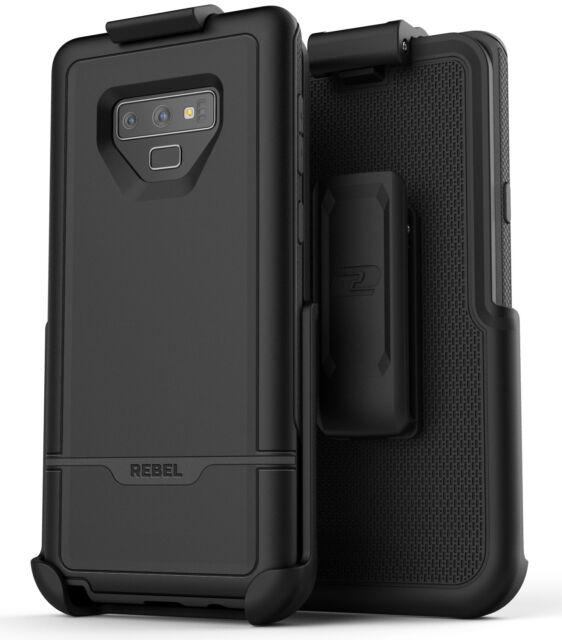 timeless design 673ea e03b3 Encased Samsung Galaxy Note 9 Belt Clip Case Rugged Protective Cover - Black