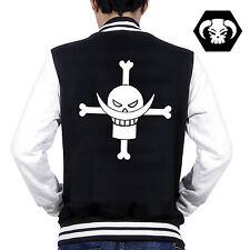 Anime One Piece Whitebeard Pirates Ace Zipper Jacket Hoodie Cosplay Coat#8-542