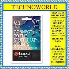 boost 40 prepaid sim cardunlimited calltext9gb datafree international - Mexico Calling Card
