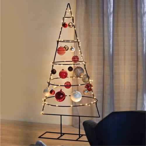 Weihnachtsdeko Ø53xH127cm Aufsteller Weihnachtsbaum Christbaum Metall 5 Ebenen