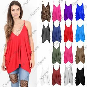 09db7aeaf234 New Womens Sleeveless Strappy Romper Cami V Neck Plain Lagenlook ...