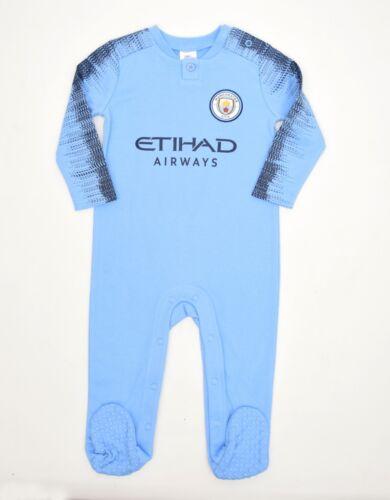 Manchester City FC Official Football Club Kit babywear gift set Sleepsuit MC800