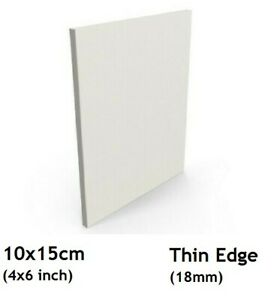 1 10x15cm Artist Blank Stretched /& Triple Gesso Primed Framed Cotton Canvas Canvas 4x6