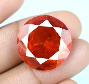36.05 Ct Padparadscha Orange Sapphire Round Gemstone Natural Certified A34831