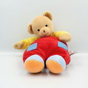 Doudou-ours-beige-rouge-jaune-bleu-BABY-GUND-Ours-Classique