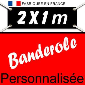 Creation-amp-Impression-BANDEROLE-KAKEMONO-Banderolle-Bache-publicitaire-2-x-1-metre