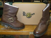 Dr Martens Meg Brown Leather Pull on Ankle Boots Sizes 3