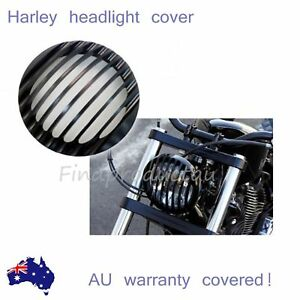 5-75-034-CNC-Black-Headlight-Grill-Cover-for-Harley-FX-XL883-XL1200-SPORTSTER-DYNA