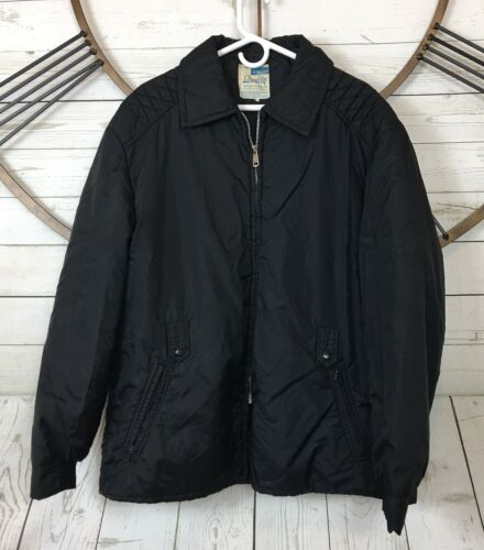 Quality Sportswear Mens Black Quilted Lined Full F