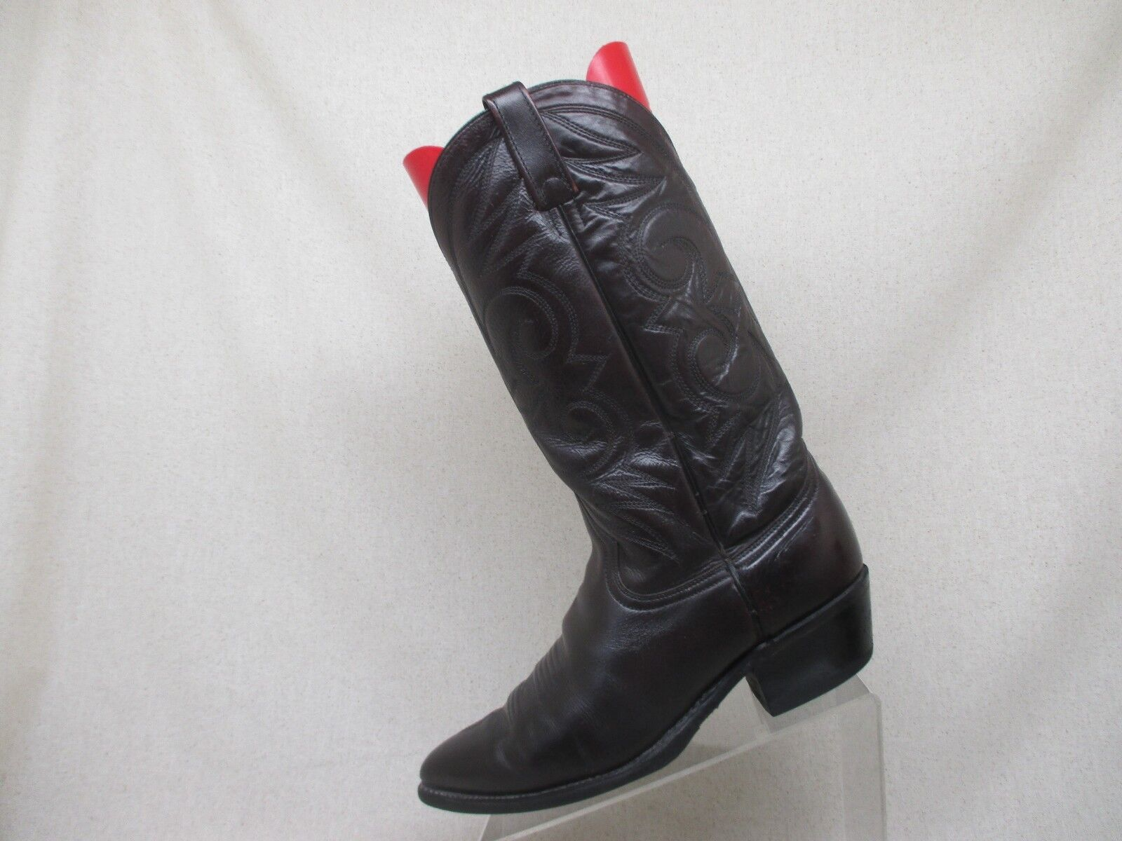 Acme Cordovan Leather Cowboy Western Boots Mens Size 9.5 D Style 16106 USA