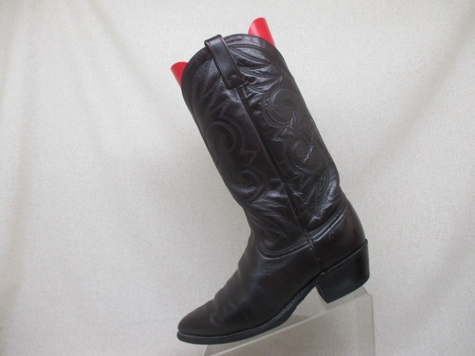 Acme Cordovan Cordovan Cordovan Pelle Cowboy Western Stivali Uomo Size 9.5 D Style 16106  A 132347