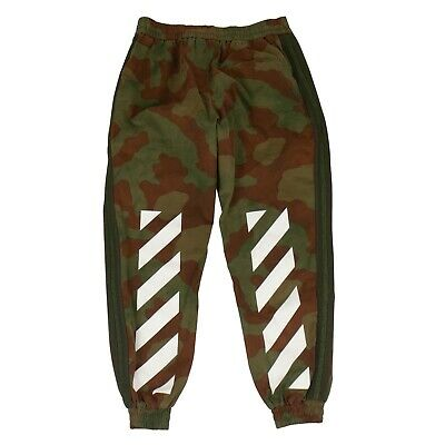Dutiful Nwt Off White C/o Virgil Abloh Diagonals Camo Washed Track Pants Size Xl $860 Men's Clothing