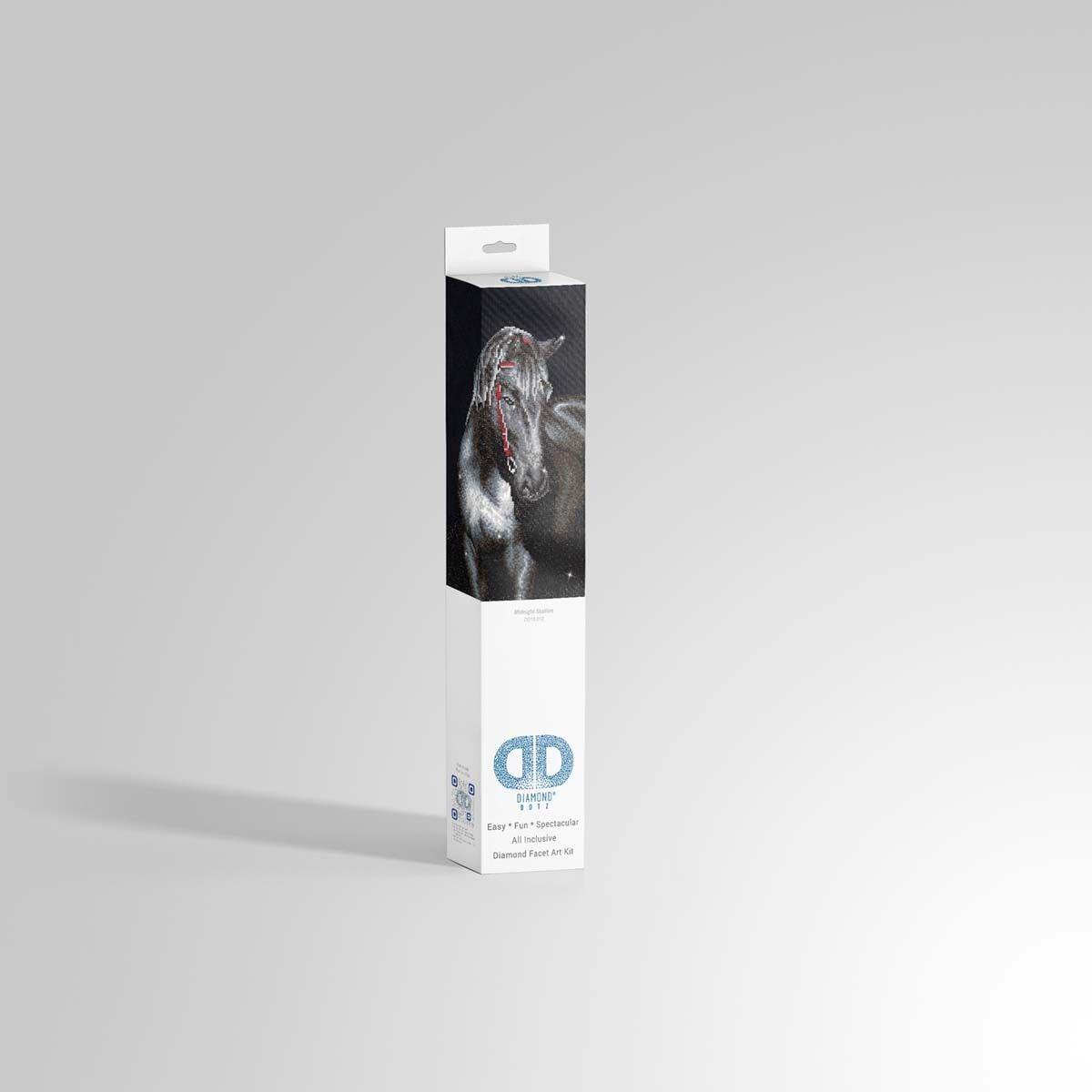 Diamond Dotz®  Mitternachtshengst  42x53cm - DD10-012 - - - Diamond Painting - NEU 3a37e2