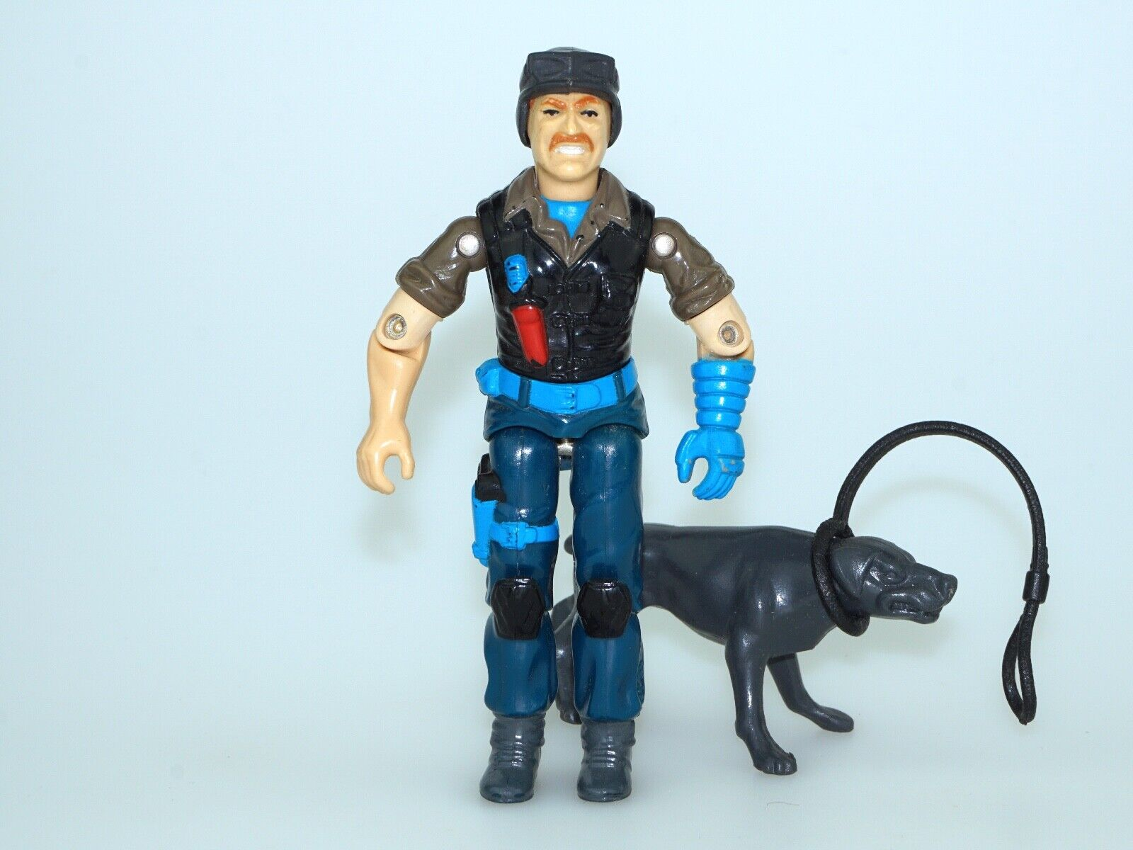 1991 GI JOE UK   EURO EXCLUSIVE NIGHT FORCE MUTT & JUNKYARD NEAR COMPLETE C8+