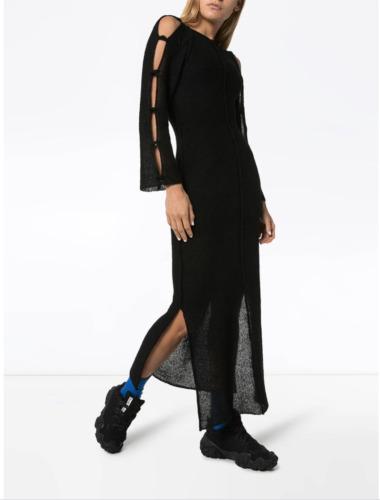 Eckhaus Latta cutout knitted midi dress