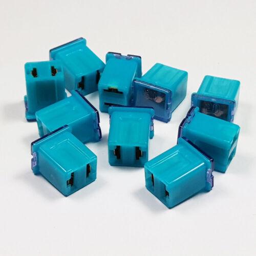 J CASE JCASE FUSE 20 A AMP 20A BLUE LOW PROFILE FEMALE PUSH IN CARTRIDGE FUSES