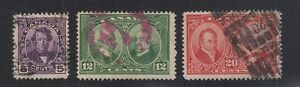 CANADA-146-148-Used-1927-Complete-Set-of-3