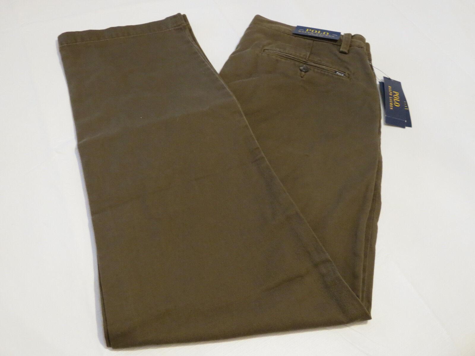 Mens Ralph Lauren Polo pants classics00 34W 30L Classic Fit 4860089 botanc green