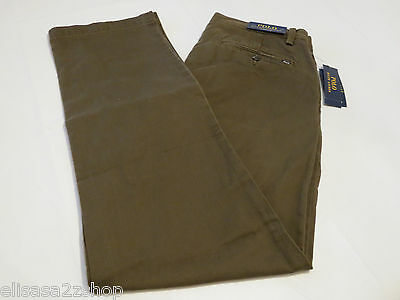 Mens Ralph Lauren Polo pants classics00 34W 34L Classic Fit 4860089 botanc green