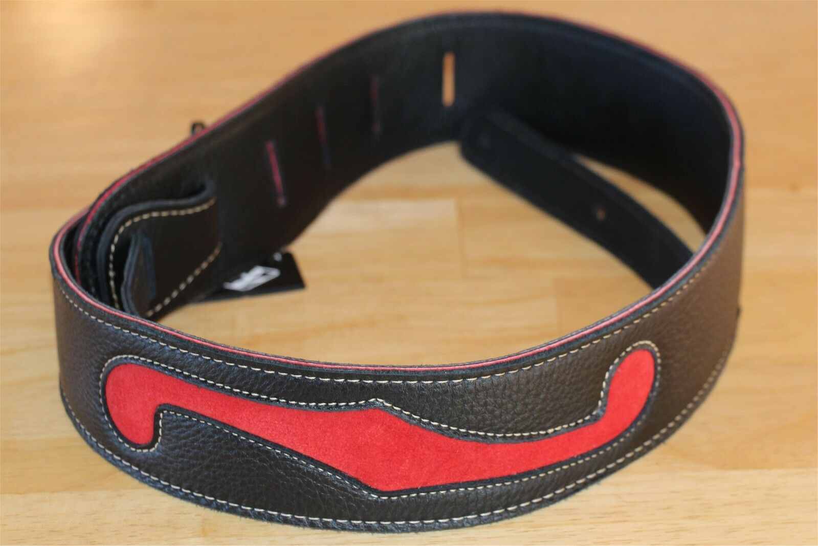New FM Products F-Hole Leather Guitar Strap