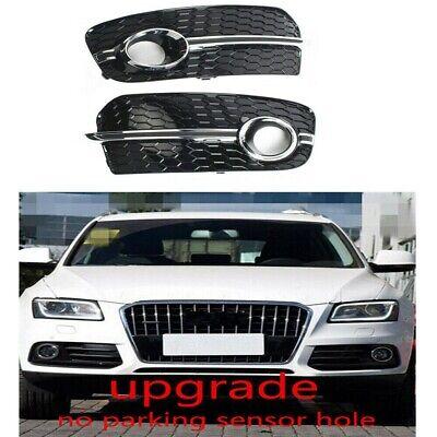 Pair Front Bumper Grille Fog Light Cover Bezel LH /& RH for Audi Q5 2013-2016
