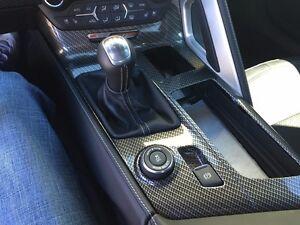 Corvette C7 Z06 Interior Center Console Shift Plate Carbon Fiber 2014 2017 New Ebay