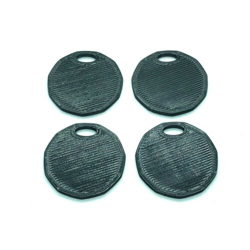 4 Pcs Shopping Cart Coin Loonie Sized With Keychain Hole