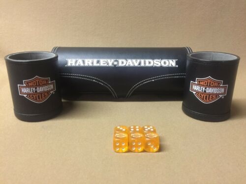 Harley-Davidson Double Dice Cups & Dice W/ Case